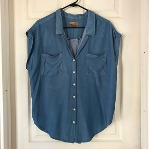 Jachs Girlfriend Blue Chambray Shirt XXL